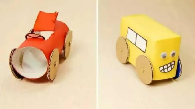 幼儿园创意手工制作小汽车,男孩子的最爱!(附汽车制作