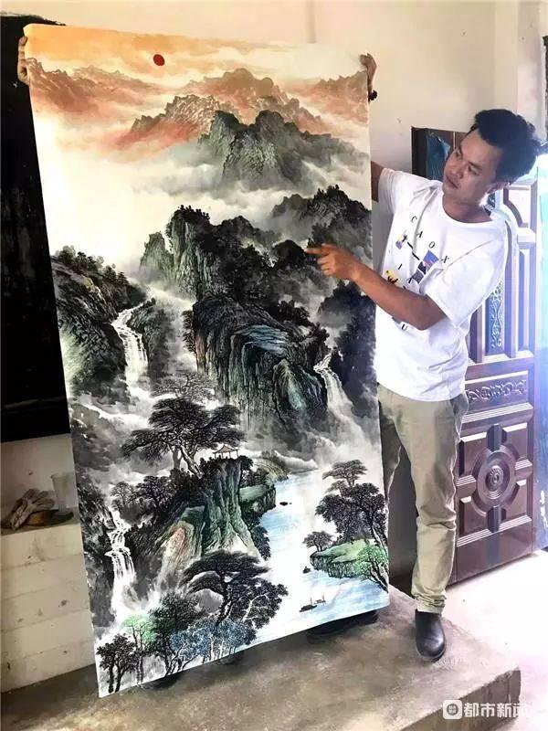 高手在民间!他的画被多个国家藏