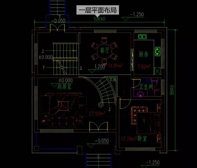 11x10米三层农村自建房设计,100平的小户型,车库地下室都有