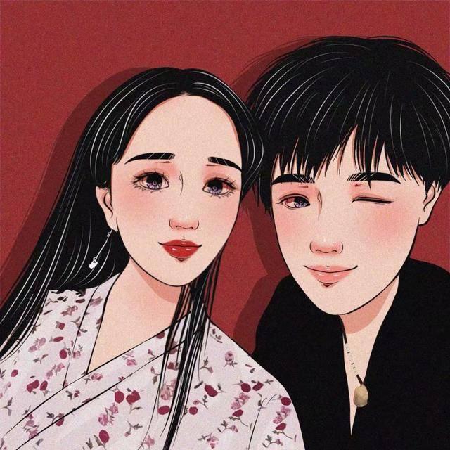手绘头像:甜蜜情侣系列,个性情侣头像