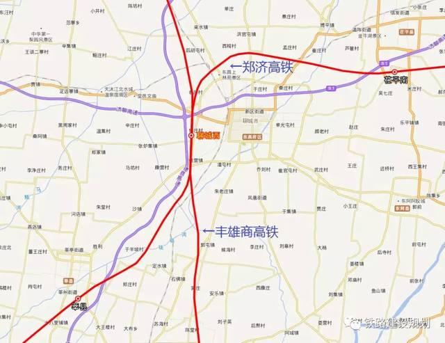 台前东→梁山(既有)→郓城(既有)→菏泽东(鲁南高铁车站)→曹县西图片