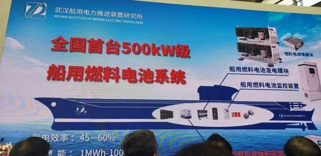 七一二所研制出首台500kW船用氢