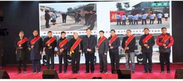 孟庄村带来的舞蹈《共圆中国梦》