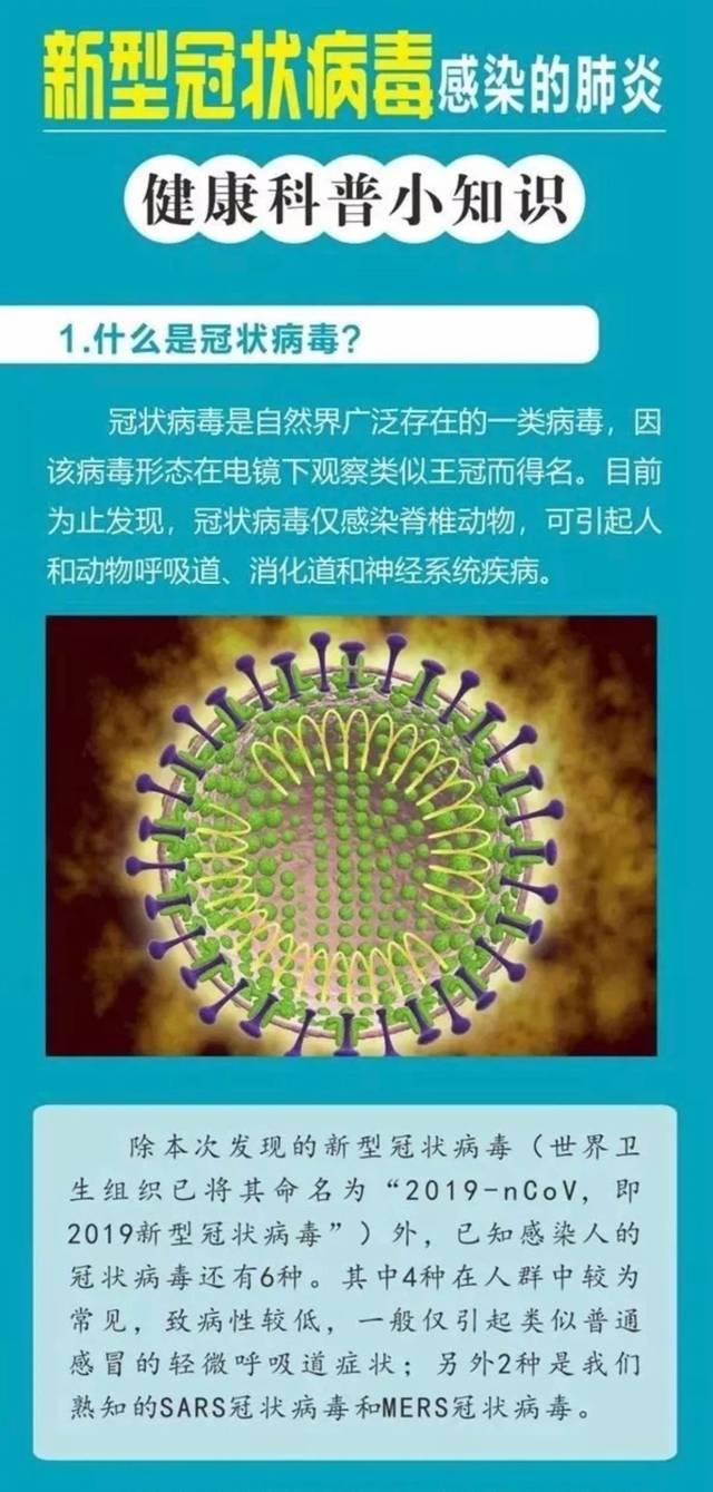 紧急!新型冠状病毒防范须知!图片