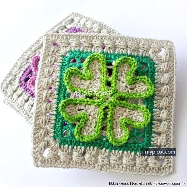 幸运图解 | 8款四叶草织物,藏在钩针里的幸运图片