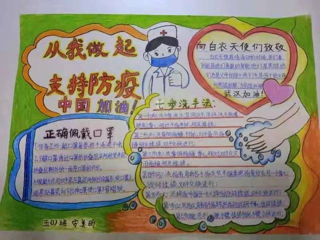 """首页 手抄报素材 快板手抄报线条  霎时间,学员们以""""抗击疫情 大爱"""