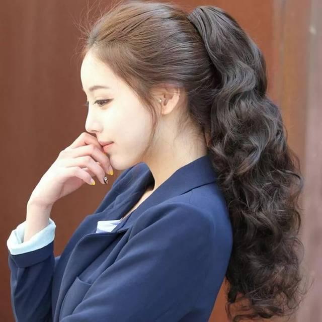 头扁的女生,更需要这些发型!图片