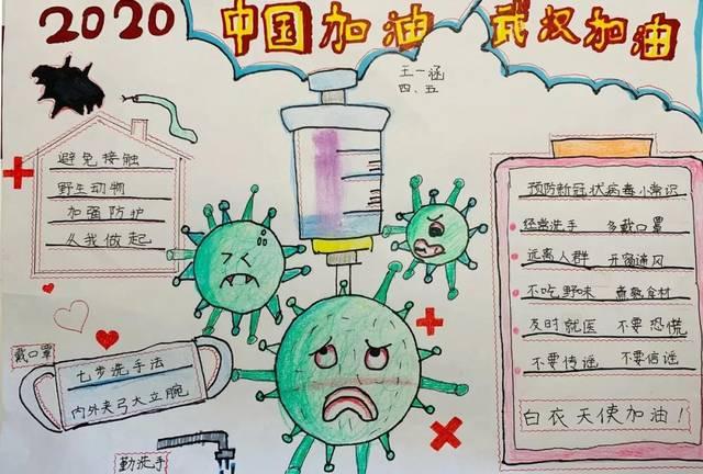 """济南市博物馆""""抗击疫情 青少年在行动""""手抄报作品 第一批作品展播正在图片"""
