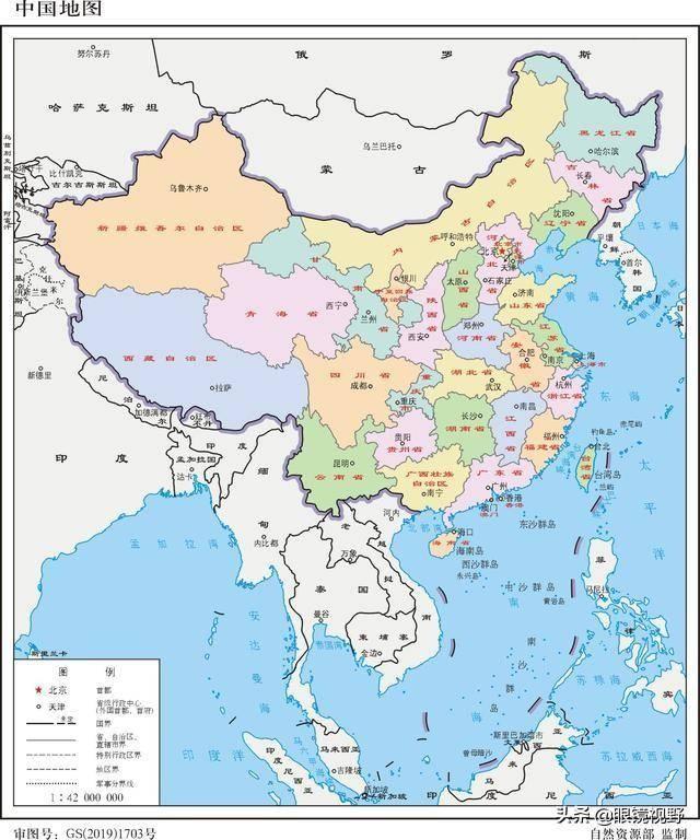 生活中,或者网络上常见的中国地图(含行政区划)大多如下图片