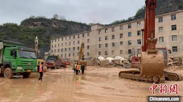 贵阳一商品混凝土公司滑坡:清理出搜救面积约4600平方米