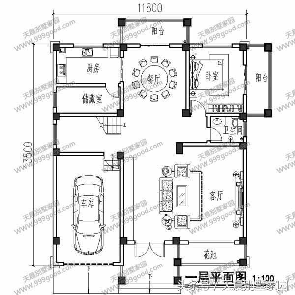 农村建房图纸8x13