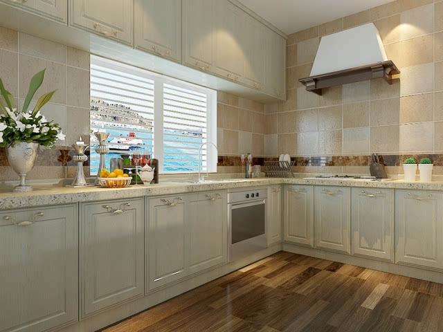 欧式厨房墙砖贴图 打造有格调的家