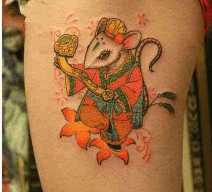 生肖纹身之子鼠 鼠类纹身大全
