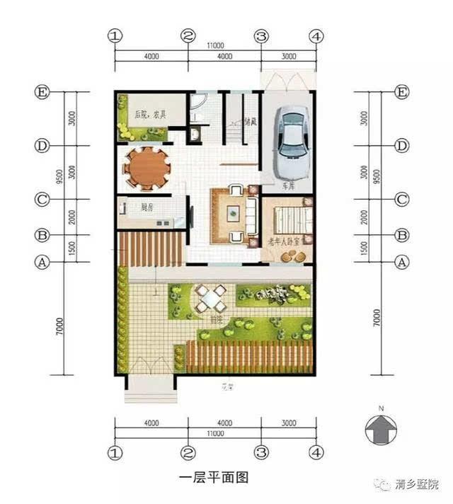 别墅造型cad立面图
