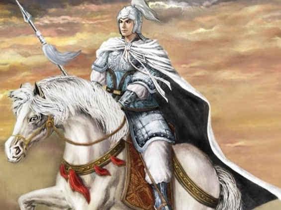 关羽骑马怎么画卡通画
