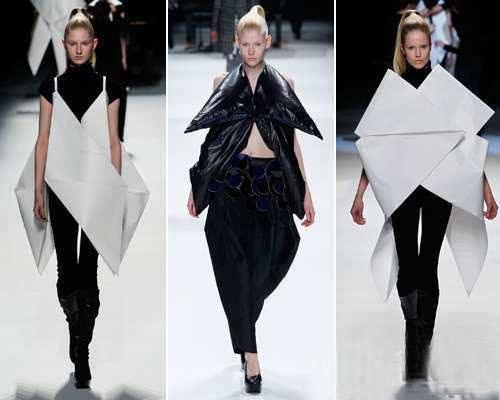 服装设计与折纸碰撞出这样艺术!