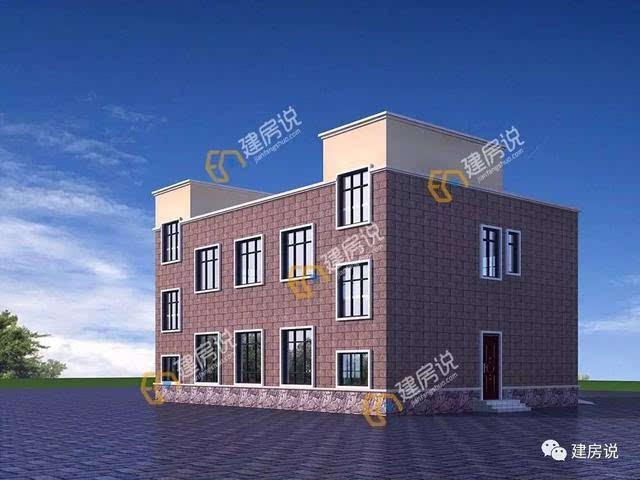 这是一款框架结构的二层农村私人酒店别墅,多窗设计保证通风采光