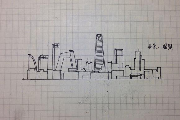 分享一波自己手绘的城市天际线