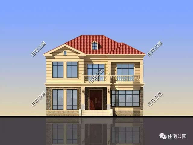 11x12米美式双层别墅,实用大气!含图纸