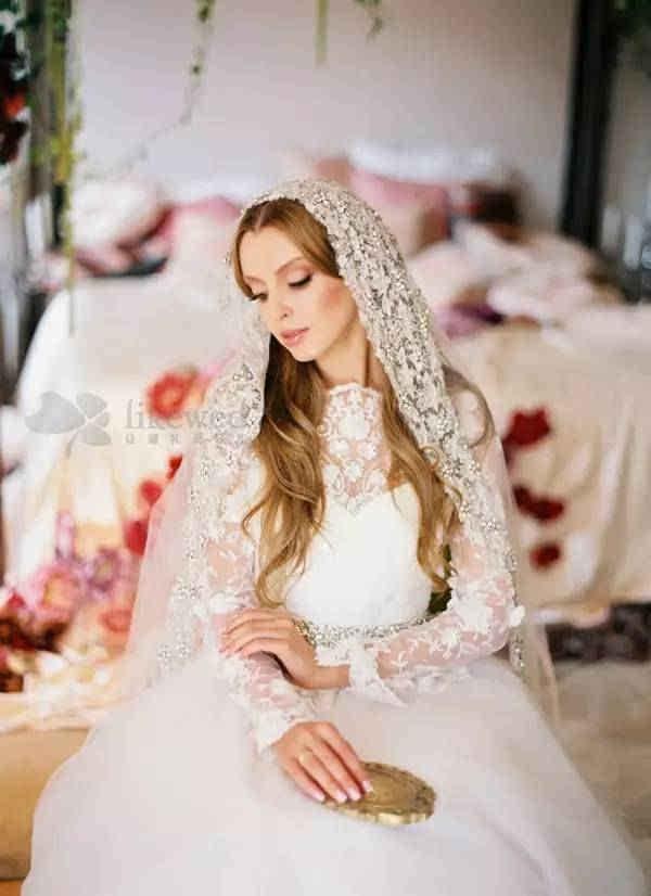知名新娘造型师小七老师教你新娘头饰|头纱怎样挑图片