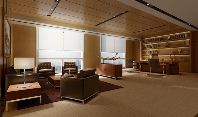 中建联艺:新中式办公室装修的三大忌图片