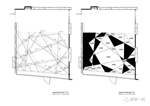 正门多边形结构  一楼平面布局图  一楼平面图  一楼墙面和二楼楼梯