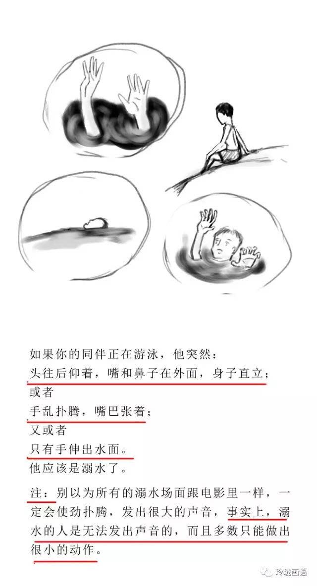 手绘流程图告诉您溺水现场如何正确救助
