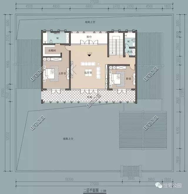 微信公众号:住宅公园,免费下载500套别墅图纸,别墅庭院设计施工.