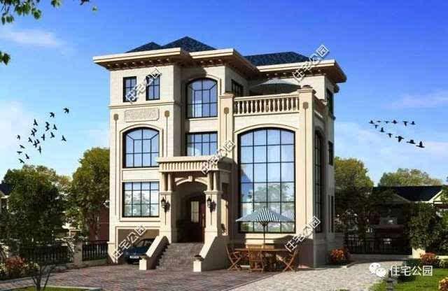 10套农村欧式别墅户型, 落地窗好, 还是窄窗好 ?