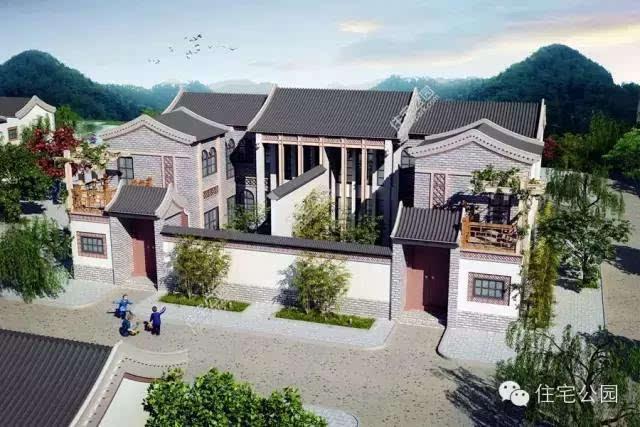 10套合院别墅,第2中式第4两个实建案例哪个更美?图片