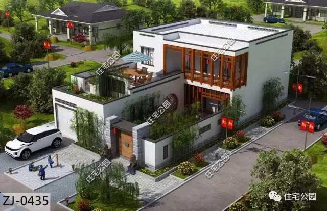 10套合院别墅,第2中式第4案例实建新村哪个更美?华建宁德市两个别墅图片