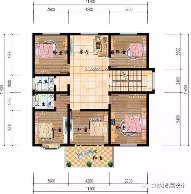 农村4个卧室设计图