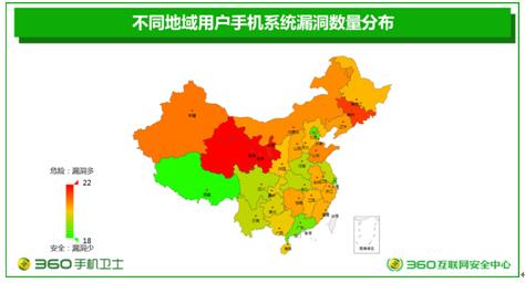 青甘宁手机用户漏洞最多 360发布安卓系统平台报告图片