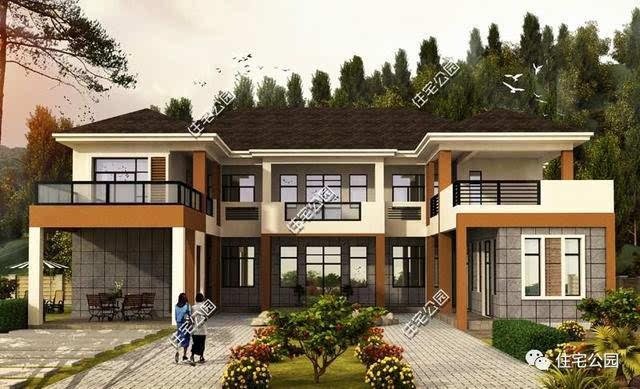 8套农村别墅户型,大宅基地建独栋好还是双拼好?