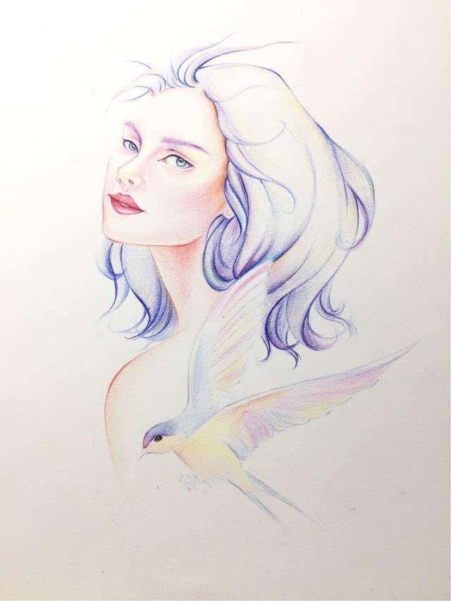 燕子手绘图片头像
