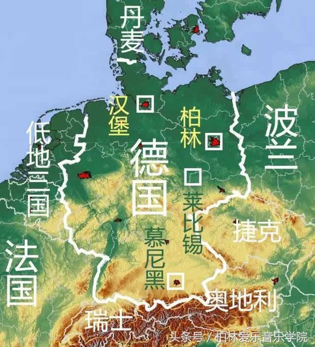 德国在欧洲的位置图片