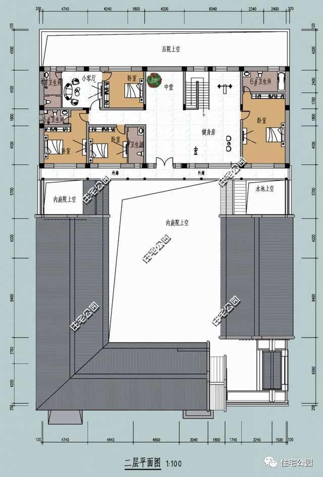 公眾號:住宅公園,500套別墅圖紙,別墅庭院設計施工!