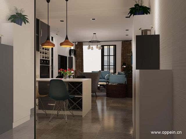 客厅灰色瓷砖装修效果图案例