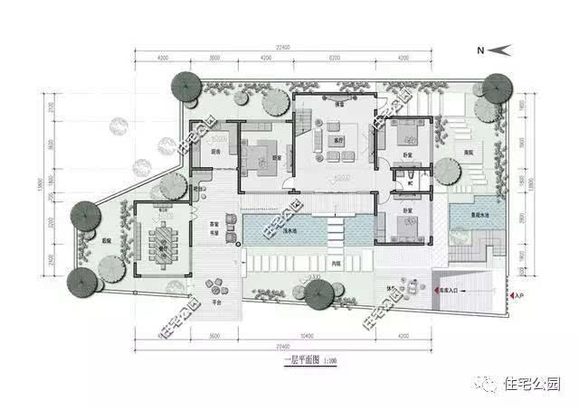 二层别墅内部结构图