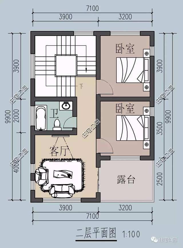 公眾號:住宅公園,500套農村別墅圖紙,定制設計,專業工程師施工答疑