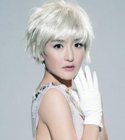 谢娜刘海短发发型图片