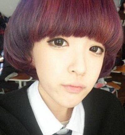 女生齐刘海短发蘑菇头发型图片
