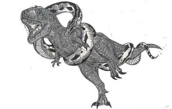 沃那比蛇:来自五万年前的蛇,会捕食海底的鲨鱼