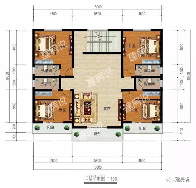 第二款 砖混结构,开间:15米,进深:8.6米,占地面积:137.36平方米,建筑面积:264.56平方米。  多窗的设计又增加了整体的通风采光效果,内部还设车库、茶室等多功能用房,经济实用,丰富了日常的起居生活。   第三款 砖混结构,开间:13.2米,进深:12米,占地面积:156.41平方米,建筑面积:300.