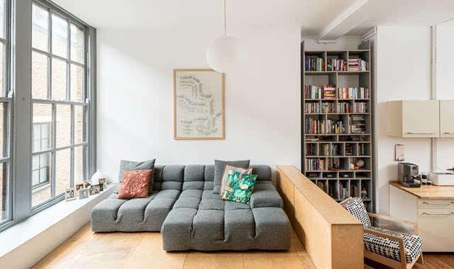 50平开放式挑高公寓设计 小户型这么设计很不错
