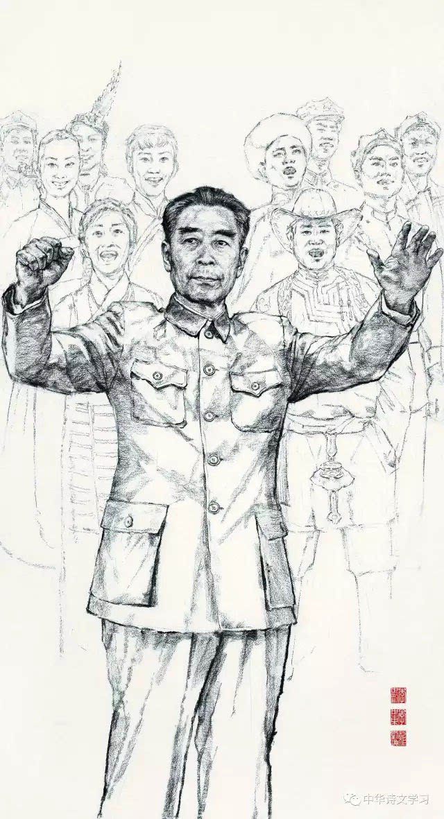 革命英雄人物简笔画手绘