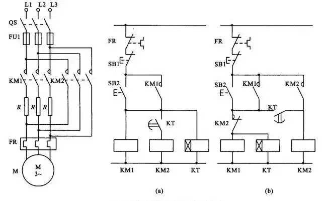 定子电路串电阻降压启动控制线