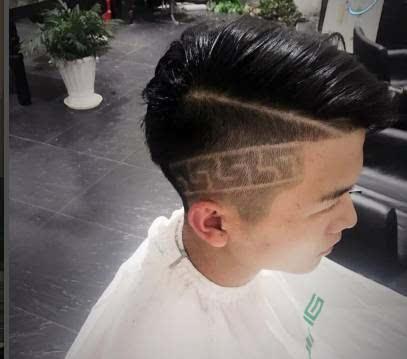 超酷的男士刻痕发型