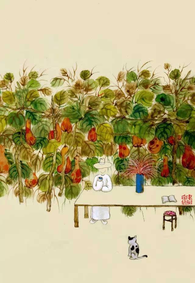 鉴赏| 老树画画——搂着秋天,抱着秋天,说不上班,就不