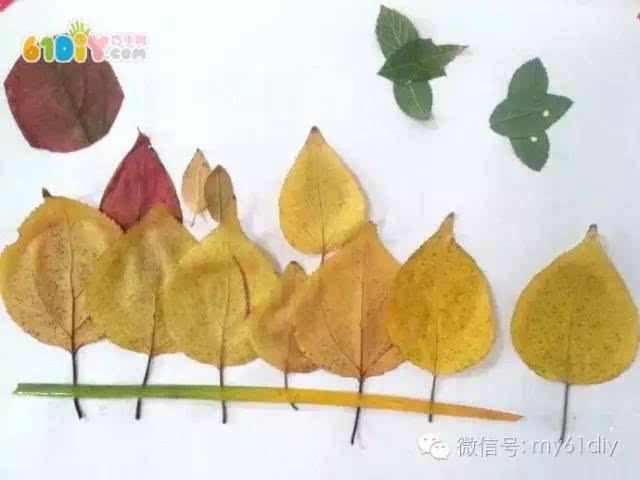 秋天树叶手工diy 秋天的景色